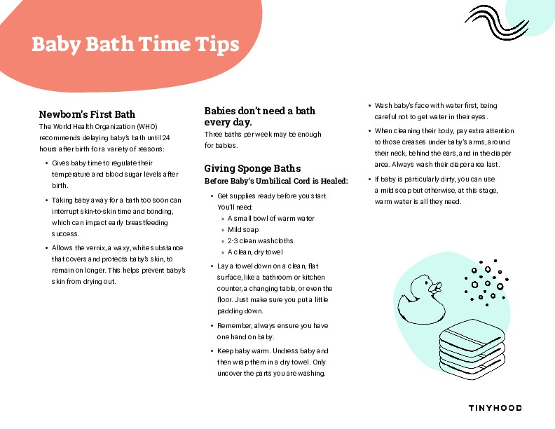 Baby Bath Time Tips Preview Image