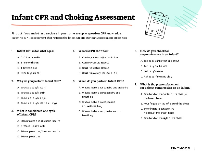 Infant CPR and Choking Assessment Preview Image