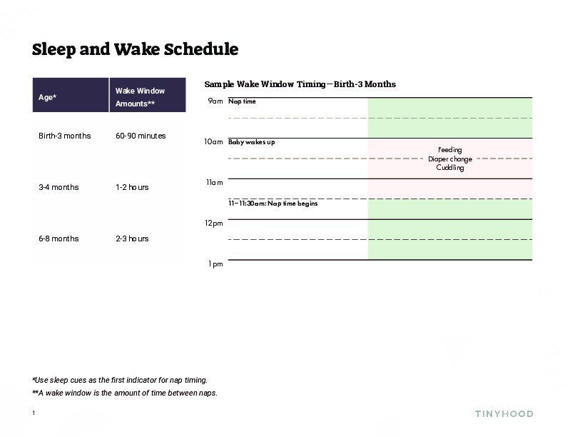 Sleep and Wake Schedule Preview Image