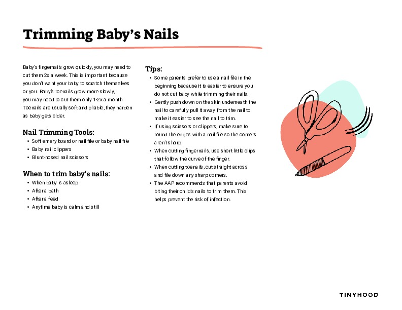 Trimming Baby's Nails Preview Image
