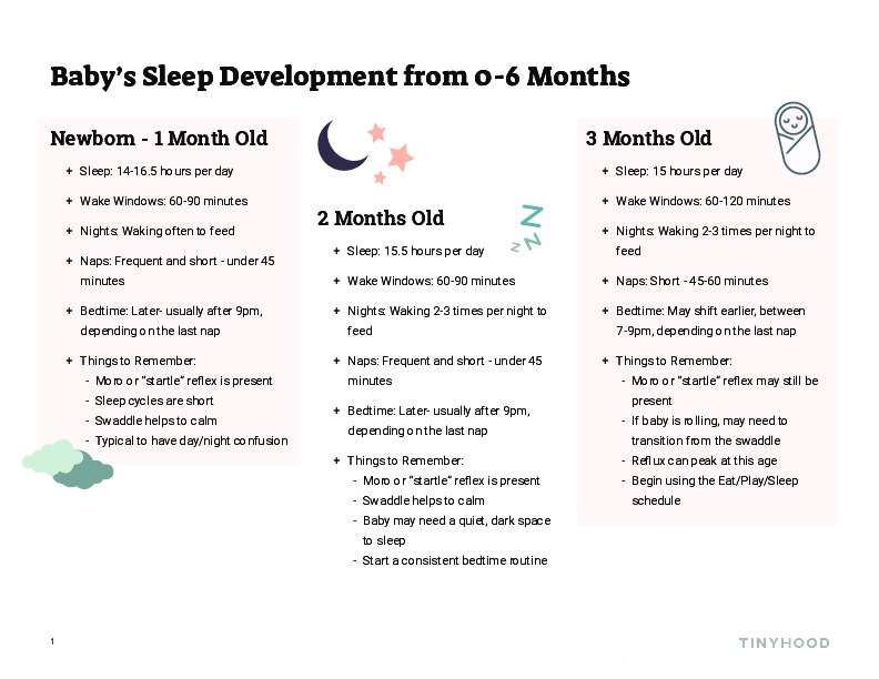 Baby Sleep Development from 0-6 Months Preview Image